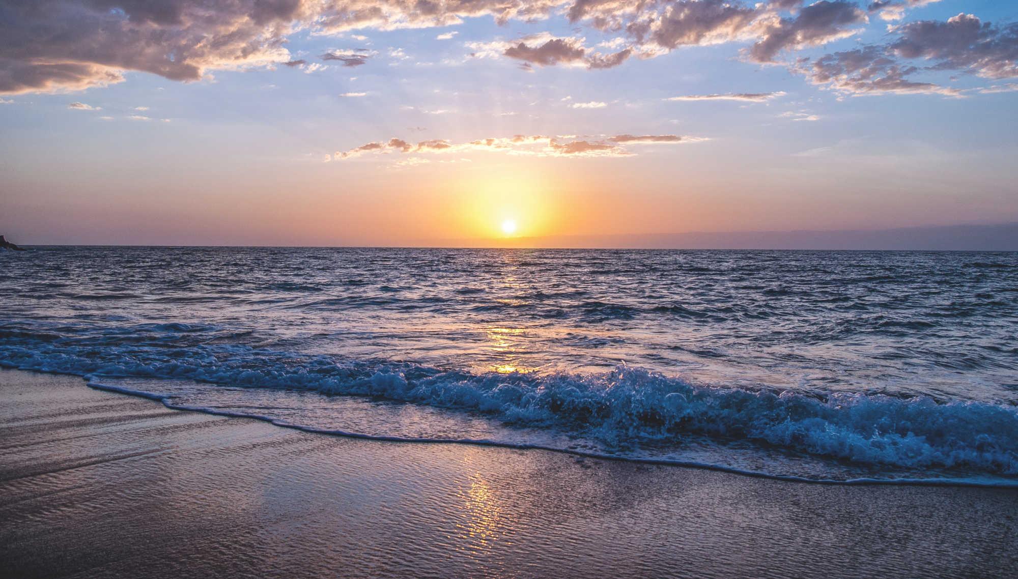 Aube sur l'océan